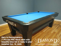 DIAMOND 7' PRO-AM PRC BLACK - GARY FROM PENNSYLVANIA - INSTALLED OCTOBER 19, 2020