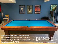DIAMOND 9' PRO-AM DYAMLUX ROSEWOOD - STEPHEN FROM MARYLAND - INSTALLED NOVEMBER 4, 2020