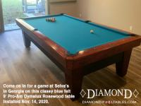 DIAMOND 9' PRO-AM DYMALUX ROSEWOOD - SELVA FROM GEORGIA - INSTALLED NOVEMBER 14, 2020