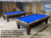 2 X DIAMOND 9' PRO-AM OAK WALNUT - DAN FROM OHIO - INSTALLED NOVEMBER 17, 2020