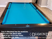 DIAMOND 8' PRO-AM OAK BLACK - TROY FROM MARYLAND - INSTALLED NOVEMBER 18, 2020