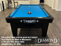 DIAMOND 9' PRO-AM PRC BLACK - MARK FROM MARYLAND - INSTALLED NOVEMBER 18, 2020