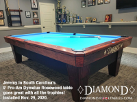 DIAMOND 9' PRO-AM DYMALUX ROSEWOOD - JEREMY FROM SOUTH CAROLINA - INSTALLED NOV 29, 2020