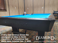 DIAMOND 9' PROFESSIONAL OAK BLACK - MIKE FROM NORTH CAROLINA - IN DEC 2, 2020