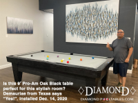 DIAMOND 9' PRO-AM OAK BLACK - DEMAURIAE FROM TEXAS - INSTALLED DECEMBER 14, 2020