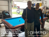 DIAMOND 8' PRO-AM DYMALUX ROSEWOOD - JULIAN FROM TEXAS - INSTALLED DEC 15, 2020