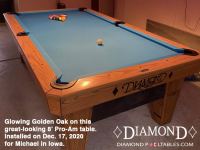 DIAMOND 8' PRO-AM OAK GOLDEN - MICHAEL FROM IOWA - INSTALLED DEC 17, 2020