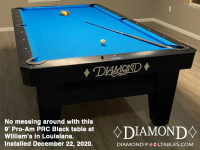 DIAMOND 9' PRO-AM PRC BLACK - WILLIAM FROM LOUISIANA - INSTALLED DEC 22, 2020
