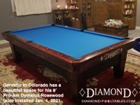 DIAMOND 9' PRO-AM DYMALUX ROSEWOOD - GERVAFIO FROM COLORADO - INSTALLED JANUARY 4, 2021