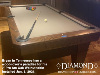 DIAMOND 7' OAK PRO AM WALNUT - BRYAN FROM TENNESSEE - INSTALLED JANUARY 8, 2021