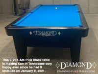 DIAMOND 9' PRO-AM PRC BLACK - KEN FROM TENNESSEE - INSTALLED JAN 9, 2021
