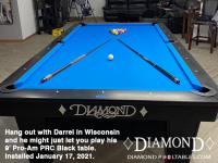 DIAMOND 9' PRO-AM PRC BLACK - DARREL FROM WISCONSIN - INSTALLED JAN 17, 2021
