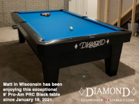 DIAMOND 9' PRO-AM PRC BLACK - MATT FROM WISCONSIN - INSTALLED JAN 18, 2021