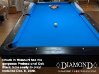 DIAMOND 7' PROFESSIONAL OAK BLACK - CHUCK FROM MISSOURI - INSTALLED DEC 8, 2020