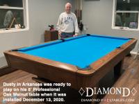 DIAMOND 8' PROFESSIONAL OAK WALNUT - DUSTY FROM ARKANSAS - INSTALLED DEC 13, 2020