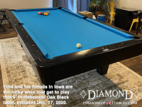 DIAMOND 9' PROFESSIONAL OAK BLACK - FRED FROM IOWA - INSTALLED DEC 17, 2020