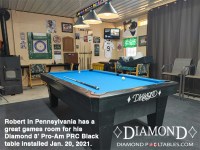1DIAMOND  8' PRO-AM PRC BLACK - ROBERT FROM PENNSYLVANIA - INSTALLED JAN 20, 2021