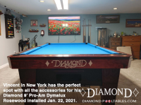 5DIAMOND 9' RPO-AM DYMALUX ROSEWOOD - VINCENT FROM NEW YORK - INSTALLED JAN 22, 2021