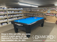 6DIAMOND 8' PRO-AM PRC BLACK - DOUG FROM OHIO - INSTALLED JANUARY 24, 2021