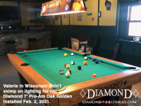 8DIAMOND 7' PRO-AM OAK GOLDEN - VALERIE FROM WISCONSIN - INSTALLED FEB 2, 2021 diamond