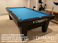 23DIAMOND 8' PRO-AM PRC BLACK - JOSHUA FROM MASSACHUSETTS - INSTALLED MARCH 6, 2021