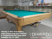 3DIAMOND 9' PROFESSIONAL OAK CLEAR - STANLEY FROM NEW YORK - INSTALLED THURSDAY, JANUARY 21, 2021