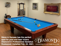16DIAMOND 9' PROFESSIONAL DYMALUX ROSEWOOD - STEVE FROM KANSAS - INSTALLED FEB 24, 2021