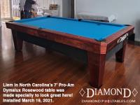 Liem in North Carolina DIAMOND 7' DYMALUX ROSEWOOD - INSTALLED MARCH 19, 2021