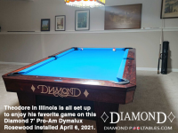 DIAMOND 7' PRO-AM DYMALUX ROSEWOOD - THEODORE FROM ILLINOIS - INSTALLED APRIL 6, 2021