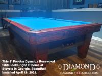 DIAMOND 9' PRO-AM DYMALUX ROSEWOOD - STEVE FROM GEORGIA - INSTALLED APRIL 16, 2021