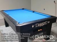 DIAMOND 7' PRO-AM PRC BLACK - MATTHEW FROM WISCONSIN - INSTALLED MAY 7, 2021