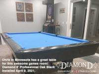 DIAMOND 8' PROFESSIONAL OAK BLACK - CHRIS FROM MINNEESOTA - INSTALLED APRIL 9, 2021