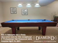 DIAMOND 9' PROFESSIONAL OAK ROSEWOOD - ERIC FROM NEBRASKA - INSTALLED APRIL 10, 2021