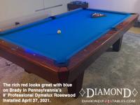 DIAMOND 9' PROFESSIONAL DYMALUX ROSEWOOD - BRADY FROM PENNSYLVANIA - INSTALLED APRIL 27, 2021