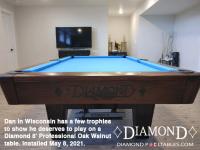 DIAMOND 8' PROFESSIONAL OAK WALNUT - DAN FROM WISCONSIN - INSTALLED MAY 8, 2021