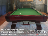 DIAMOND 9' PARAGON MAPLE ROSEWOOD - MARK FROM TEXAS - INSTALLED JUNE 15, 2021