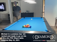 DIAMOND 7' PRO-AM PRC BLACK - MICHAEL FROM LOUISIANA - INSTALLED MAY 23, 2021