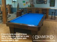 DIAMOND 8' PRO-AM OAK WALNUT - DOUG FROM OHIO - INSTALLED JUNE 8, 2021