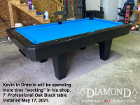 DIAMOND 7' PROFESSIONAL OAK BLACK - KEVIN FROM ONTARIO - INSTALLED MAY 17, 2021