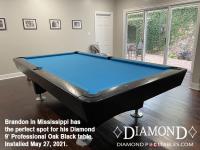 DIAMOND 9' PROFESSIONAL OAK BLACK - BRANDON FROM MISSISSIPPI - INSTALLED MAY 27, 2021