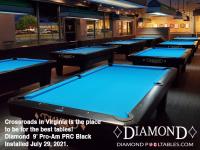 DIAMOND 9' PRC BLACK PRO-AM'S - CROSS ROADS POOL HALL FROM VIRGINIA - INSTALLED JULY 29, 2021