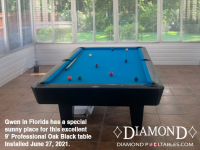 DIAMOND 9' PROFESSIONAL OAK BLACK - GWEN FROM FLORIDA - INSTALLED JUNE 27, 2021