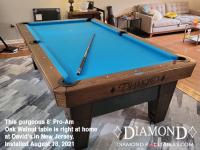 DIAMOND 8' PRO-AM OAK WALNUT - DAVID FROM NEW JERSEY - INSTALLED AUGUST 18, 2021