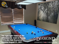 DIAMOND 7' PRO-AM OAK ROSEWOOD - ALAIN FROM FLORIDA - INSTALLED AUGUST 21, 2021