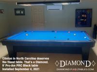 DIAMOND 9' PRO-AM PRC BLACK - CLINTON FROM NORTH CAROLINA - INSTALLED SEPT 4, 2021
