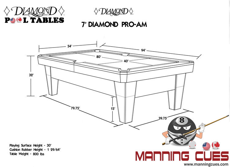Diamond Smart Pool Table - 7 foot diamond pool table