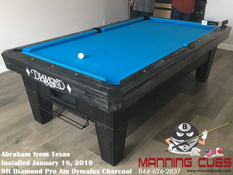 Abraham's 8' Pro Am Dymalux Charcoal Table from Texas