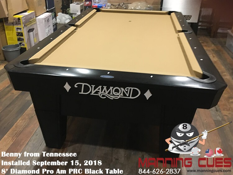 Benny's 8' Pro Am PRC Black Table from Tennessee