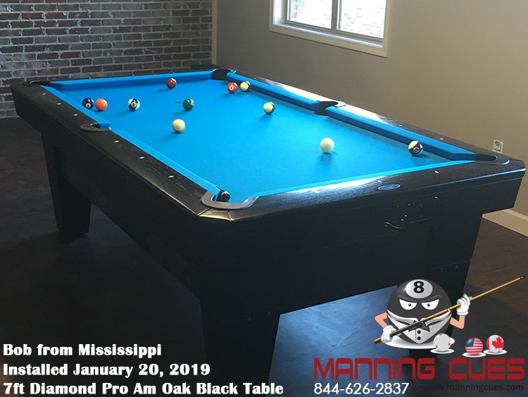Bob's 7' Pro Am PRC Black Table from Mississippi
