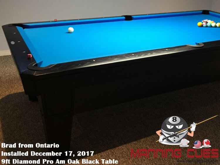 Brad's 9ft Pro Am Oak Stained Black from Ontario